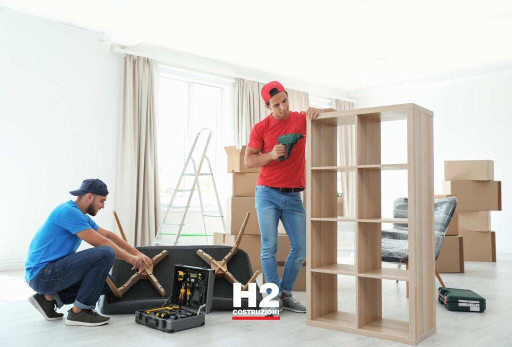 Appartamento - rimontaggio mobili