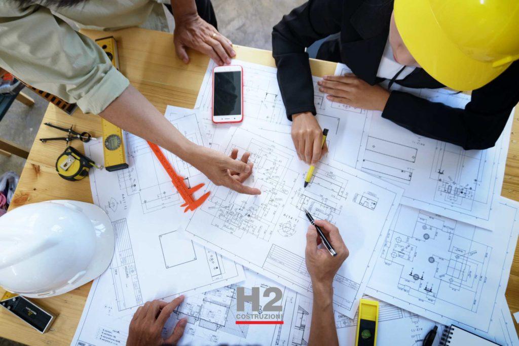 Impresa di costruzione per collaborazione con architetti